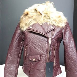 Andrew New York Faux Fur Collar Jacket
